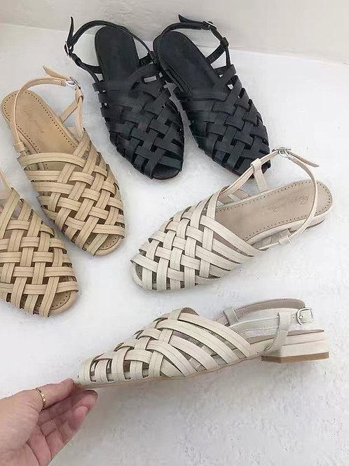 SE036 復古草編涼鞋