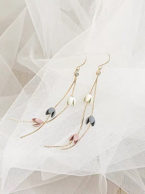 ER002 氣質花朵耳環(925銀針/耳夾)