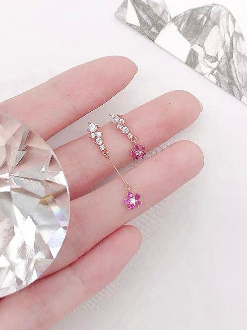 小清新仙氣花朵耳環(925銀針/耳夾)