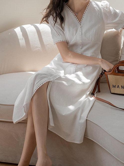 SH214 仙氣收腰氣質連身裙