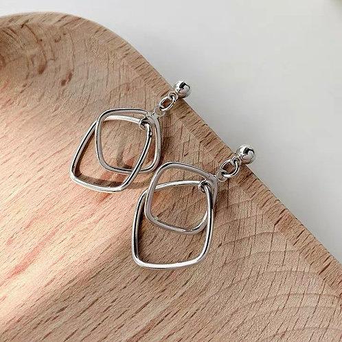 ER004 超精緻幾何耳環(925銀針/耳夾)