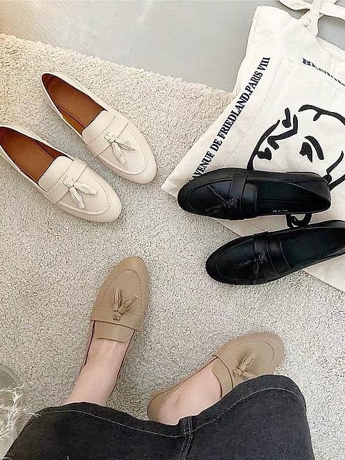 SE220 流蘇復古舒適感英倫鞋