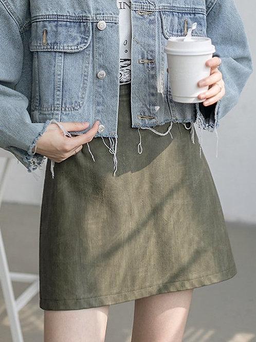 SH594 簡約純色休閒半身裙