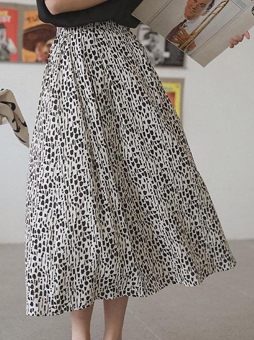 SH227 雪紡波點休閒半身裙