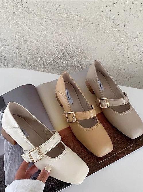 SE327 復古瑪麗珍高跟鞋