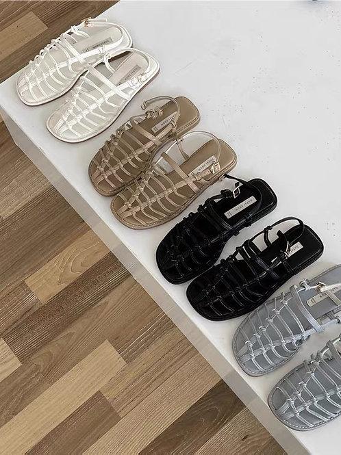 SE349 復古藤編休閒涼鞋