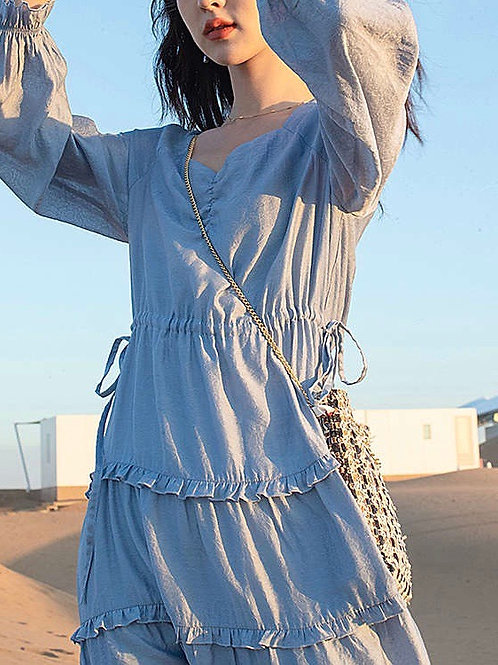 SH541 飄逸感仙氣連身裙