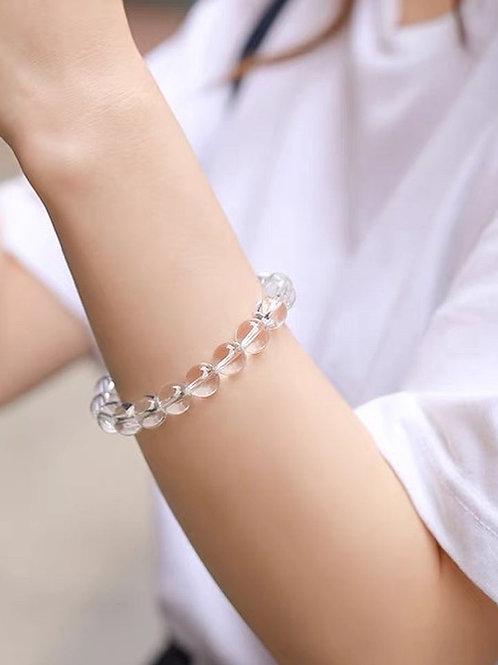 CR171 「智慧/事業」白水晶手鍊