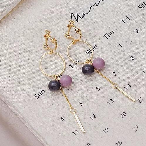 韓風簡約氣質耳環 (925銀針/耳夾)