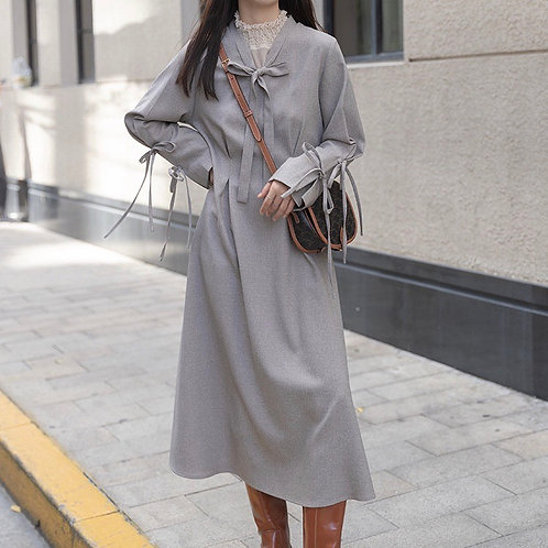 SH530 復古設計感連身裙