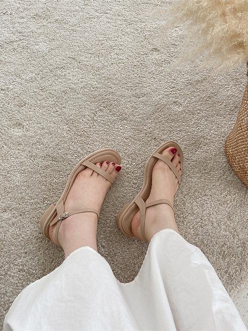 SE362 韓系一字帶休閒涼鞋
