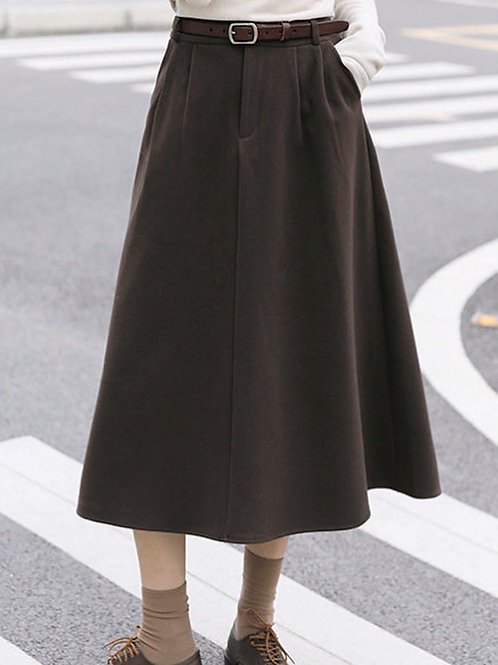 SH645 休閒百搭傘型半身裙