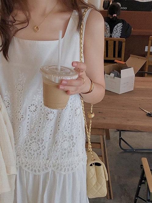 #SH232 別緻刺繡休閒連身裙