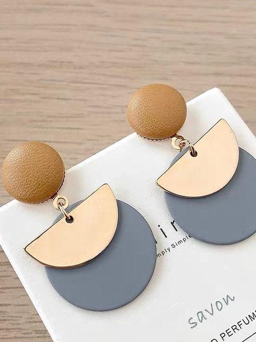 ER008 韓版金屬耳環(925銀針/耳夾)