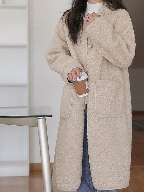 SH736 保暖羊羔長款外套