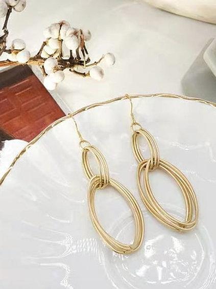 幾何線條感耳環 (925銀針/耳夾)