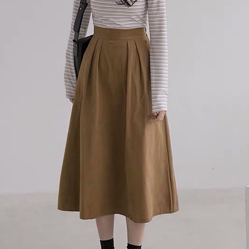 SH559 氣質簡約純色A字裙
