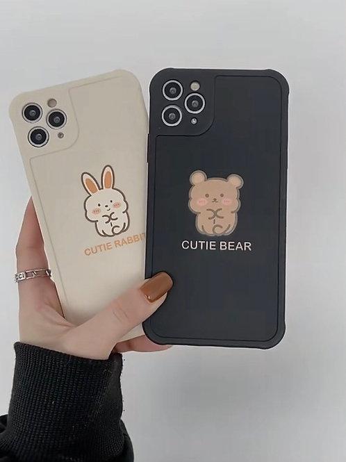CS604可愛小熊兔子包邊軟殻