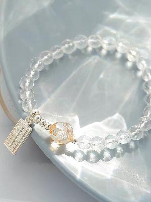 CR109 「智慧之石」白水晶手鍊