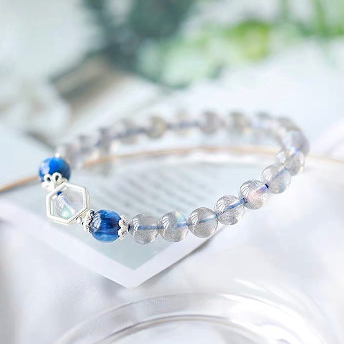 CR056 「減壓穩定感情」藍晶石月光石手鍊
