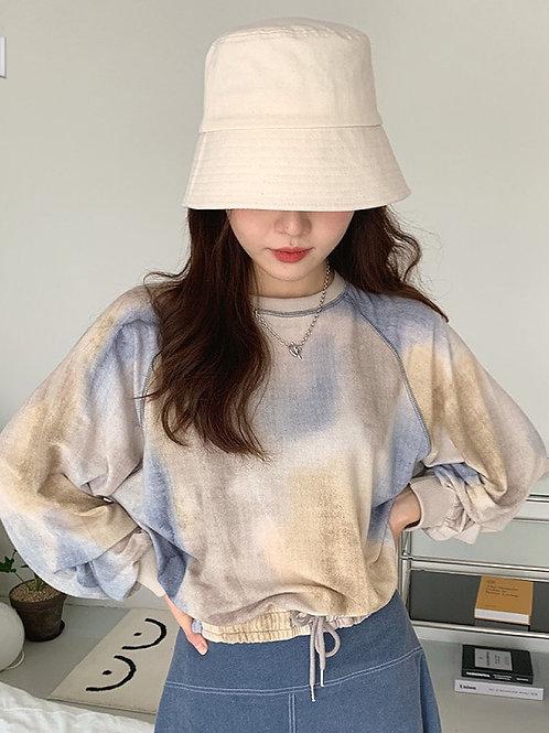 KR028 韓國氣質迷彩百搭衛衣
