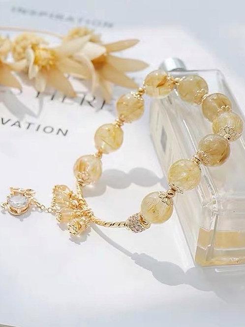 CR106 「聚財增自信」黃水晶手鍊