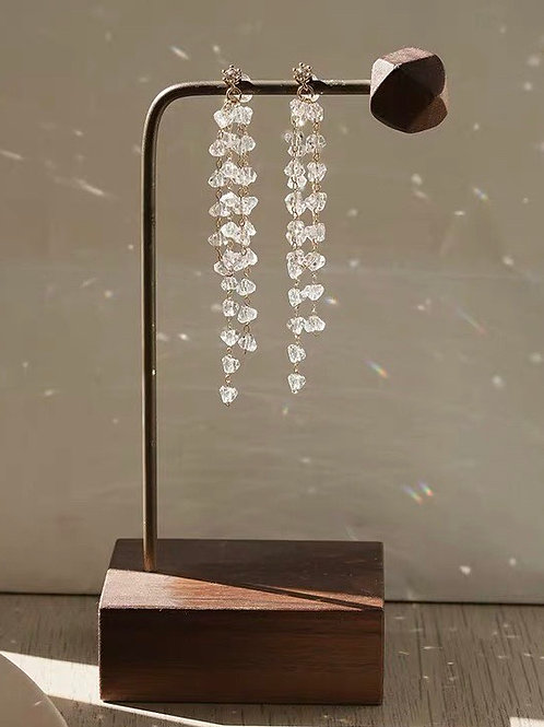 韓版碎珠耳環 (925銀針/耳夾)