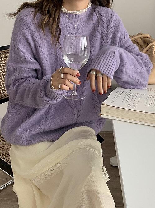SH738 溫柔純色針織上衣