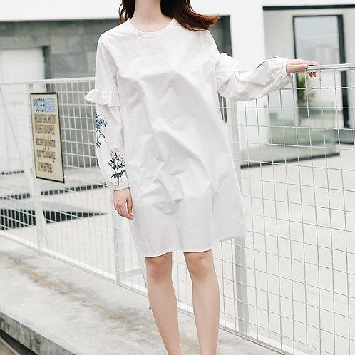超氣質刺繡連身裙