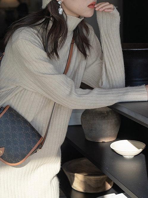 SH691 簡約條紋針織連身裙
