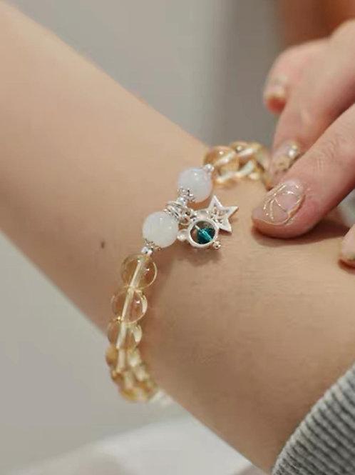 CR150 「聚財增自信」黃水晶手鍊
