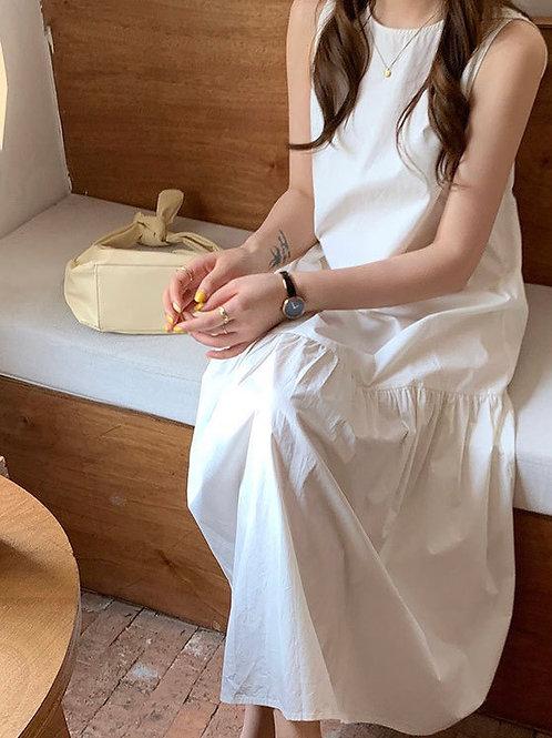 SH975 純色氣質魚尾連身裙