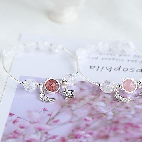 CR080 「增人緣排病氣」草莓晶白水晶手鍊🔮