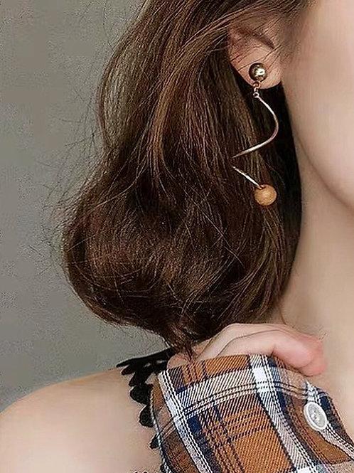 精美彈弓型耳環(925銀針/耳夾)
