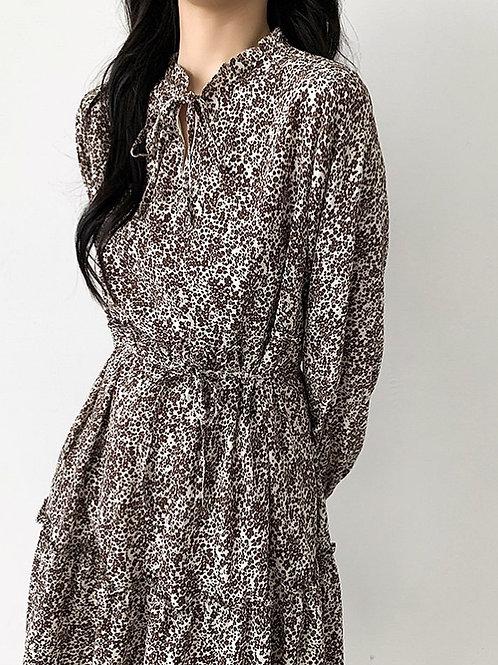 SH592 復古韓版碎花連身裙