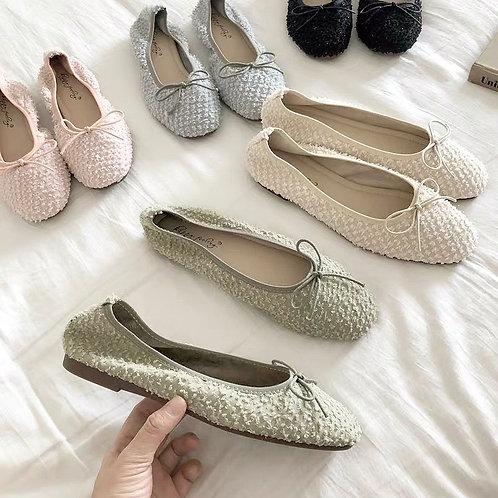 SE097 休閒蝴蝶平底鞋