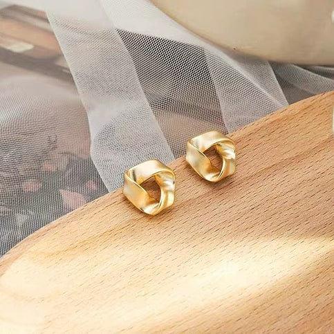 冷淡風金屬耳環 (925銀針/耳夾)