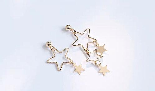 韓風簡約星星耳環 (925銀針/耳夾)