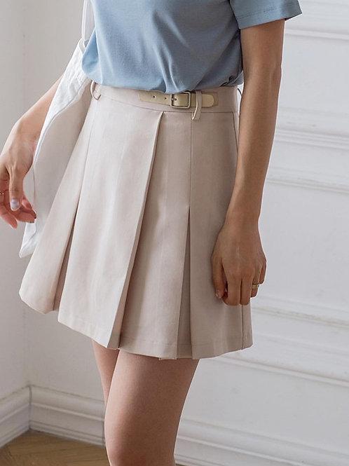 SH983 百搭設計感百褶裙