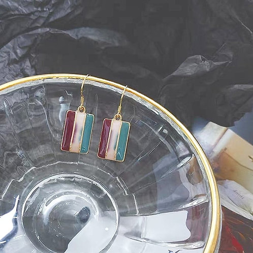 復古宮廷風耳環(925銀針)