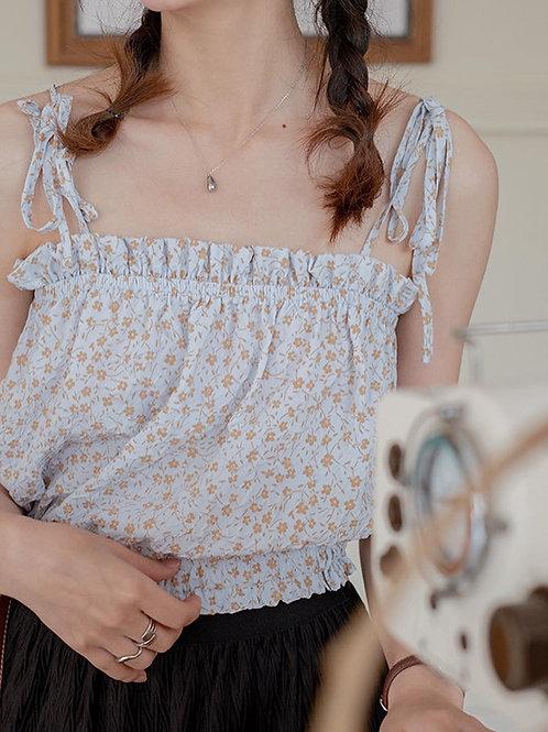 SH890 小清新碎花吊帶衫