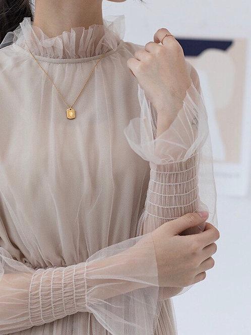 仙氣蕾絲連身裙