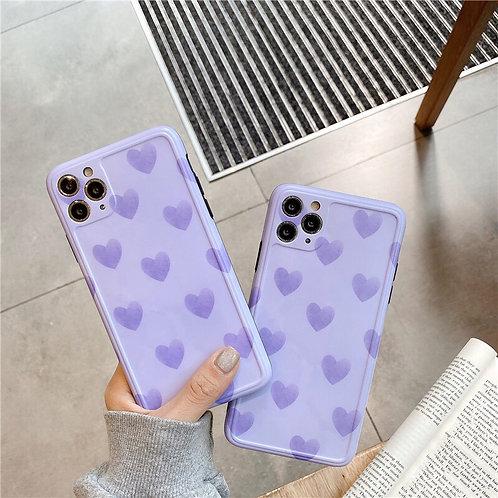 CS317紫色愛心包邊軟殼