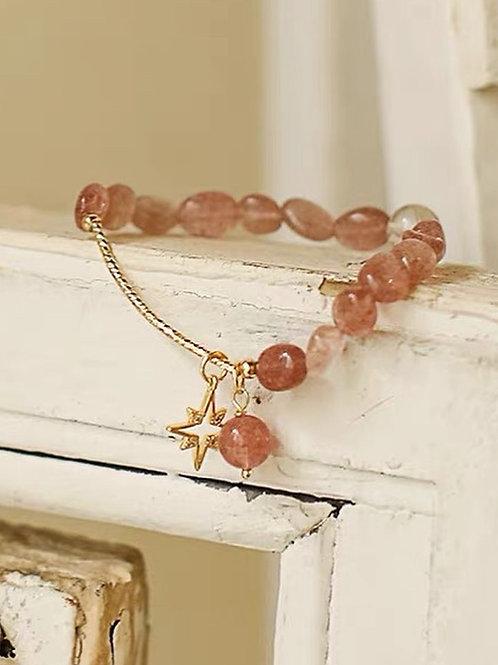 CR180 「愛情運/消除負能量」草莓晶手鏈