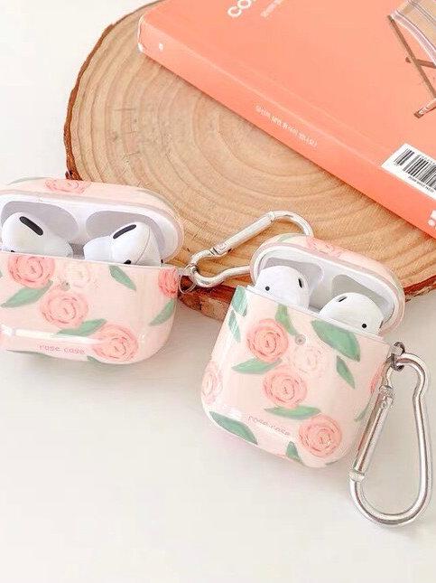 CS722粉色玫瑰花Airpod保護套