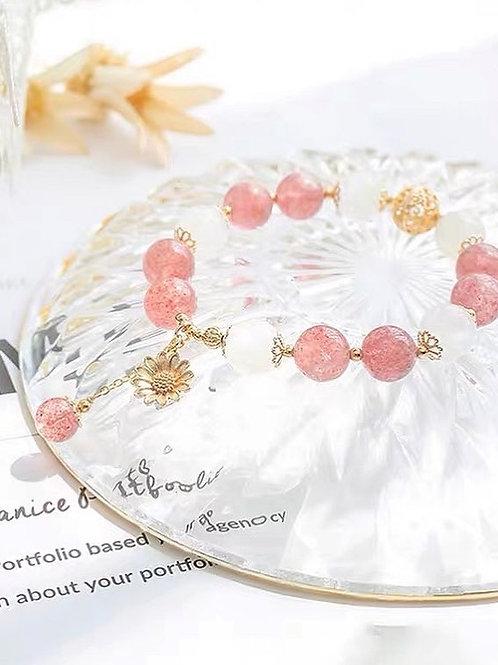 CR111 「提升愛情運」草莓晶手鍊