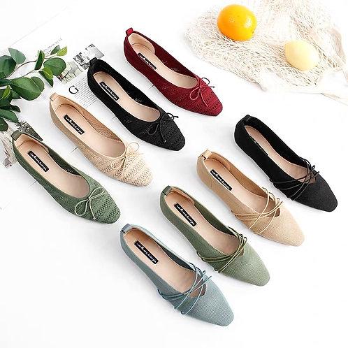 百搭針織平底鞋