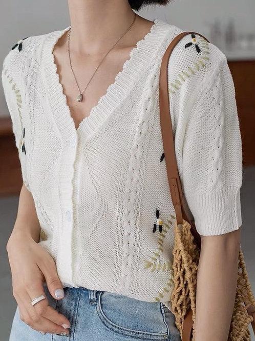 SH905 氣質刺繡百搭針織衫