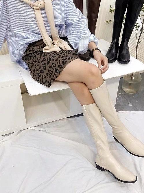 SE232 簡約長款顯瘦拉鏈靴