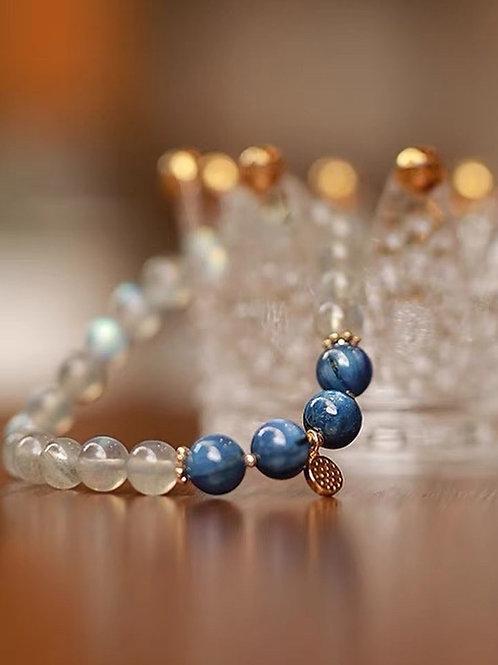 CR157 「舒解憂慮」月光石藍晶石手鏈